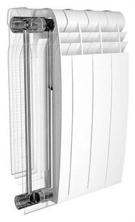 Радиатор биметаллический Royal Thermo BiLiner 500 6 секций цвет silver satin - фото 10107