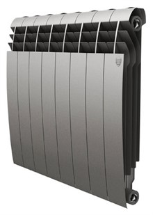 Радиатор биметаллический Royal Thermo BiLiner 500 8 секций цвет silver satin - фото 10114