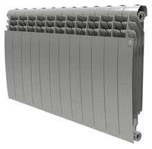 Радиатор биметаллический Royal Thermo BiLiner 500 12 секций silver satin - фото 10120