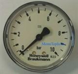 Манометр Honeywell аксиальный (для FK06, D06F. F74C), 0-10 атм.