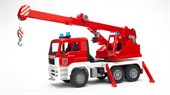 Пожарная-автокран MAN со светом и звуком 02-770