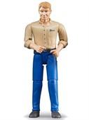 Фигурка мужчины голубые джинсы Bruder 60-006