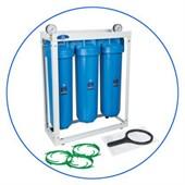 Корпус фильтра BB 20 трехколбовый на стеллаже Aquafilter